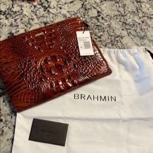 Brahmin Pecan tablet case and wallet NWT